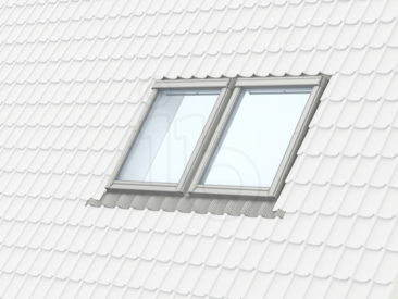Velux horizontaal duo handbediend grenenhout hr for Misure finestre velux