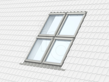 velux quattro integra onderhoudsarm wit hr zelfreinigende veiligheidsglas 238x246 cm ggu sk06. Black Bedroom Furniture Sets. Home Design Ideas