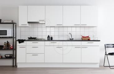Ondiepe onderkasten keuken metod derkast met planken wit