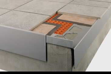 schluter bara rap verbindingsstuk randprofiel pastelgrijs. Black Bedroom Furniture Sets. Home Design Ideas